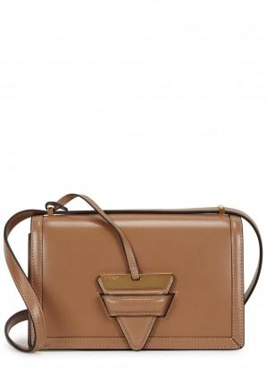 Loewe Barcelona 24 taupe leather shoulder bag
