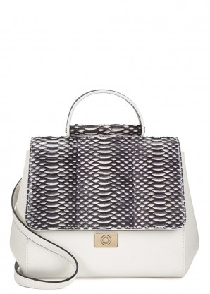 Gianoi The Nadia small leather and watersnake cross-body bag