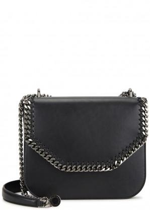 Stella McCartney Falabella black faux leather shoulder bag
