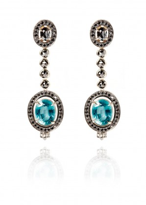 Ara Vartanian Apatite and diamonds earrings