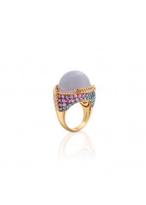 Niquesa Chalcedony aquamarine sapphire
