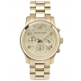 Gold tone stainless steel chronograph watch
