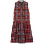 Beau embellished plaid dress