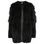Tarra black fur coat
